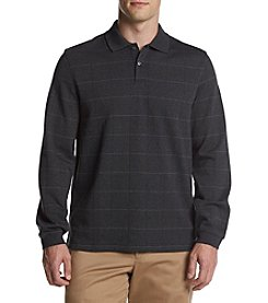 Van Heusen® Long Sleeve Flex Windowpane Polo Shirt