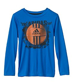 adidas® Boys' 2T-7X Long Sleeve Clima Photo Sport Tee