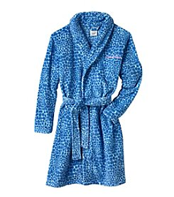 Calvin Klein Girls' 5-16 Cheetah Print Robe