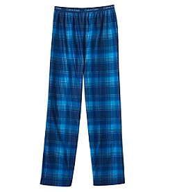 Calvin Klein Boys' 8-20 Plaid Print Pants