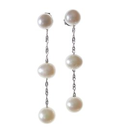 Effy® 14K Cultured Freshwater Pearl Linear Earrings