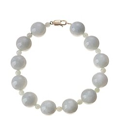 Effy® 14K Yellow Gold Natural Jade Beaded Bracelet