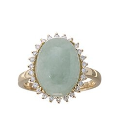 Effy® Verde Collection 14K Gold Jade Ring