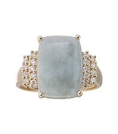Effy® Gold Jade and Crystal Ring