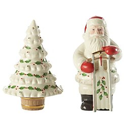 Lenox® Santa And Tree Salt And Pepper Shaker