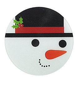Chef's Quarters Snowman Round Cut Board