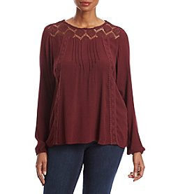 Fever™ Plus Size Crochet Top