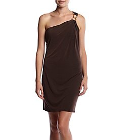MICHAEL Michael Kors® One Shoulder Dress With Gold Accent