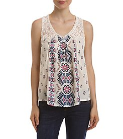 Skylar & Jade™ Crochet Mixed Print Swing Tank