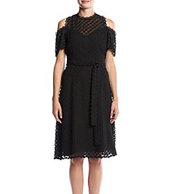Ivanka Trump® Textured Cold-Shoulder Dress