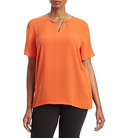 MICHAEL Michael Kors® Plus Size High-Low Chain Top