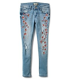 Squeeze Girls' 7-14 Cherry Blossom Skinny Jeans
