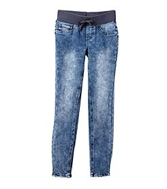 Miss Attitude Girls' 7-14 Vintage Wash Jeggings