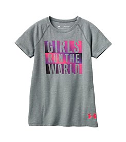 Under Armour® Girls' 4-6X Run The World Tee