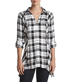 Relativity® Plaid Utility Sharkbite Tunic