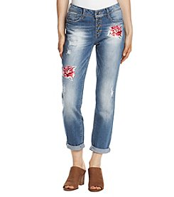 Black Daisy Jamie Best Friend Embroidered Rose Jeans