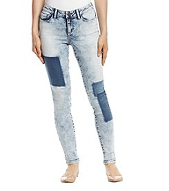 Black Daisy Billie Skinny Shadow Patch Jeans