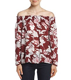 Hippie Laundry Floral Off Shoulder Peasant Shirt