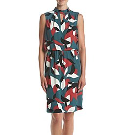 Nine West® Printed Keyhole Dress