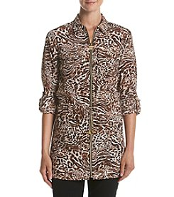 MICHAEL Michael Kors® Big Cat Zip-Up Tunic