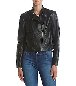 MICHAEL Michael Kors® Leather Moto Jacket