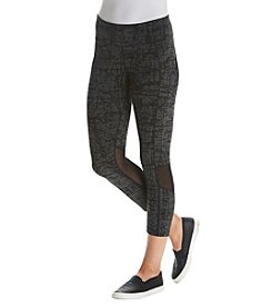 Calvin Klein Performance Crosshatch Printed Crop Pants