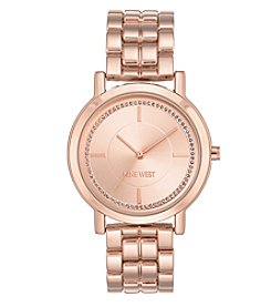 Nine West® Rose Goldtone Glitter Dial Watch