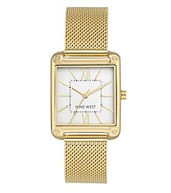 Nine West Square Case Mesh Bracelet Watch