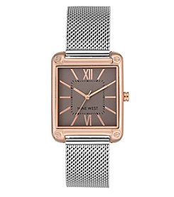 Nine West® Square Case Mesh Bracelet Watch