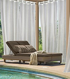 Outdoor Decor™ Louisa Semi-Sheer Metallic Grommet Top Panel