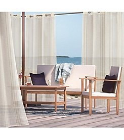 Outdoor Decor™ Macie Semi-sheer Metallic Grommet Top Panel