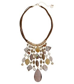 Erica Lyons® She's A Natural Fringe Front Necklace