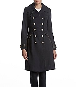 GUESS Wool Military Coat With Button Detail