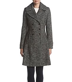 Ivanka Trump® Tweed Fit & Flare Boucle Coat