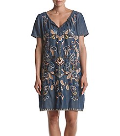 Chelsea & Theodore® Embroidered Floral Dress