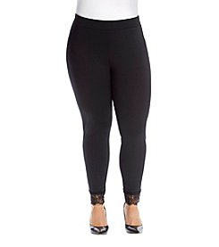 MICHAEL Michael Kors® Plus Size Lace Trim Leggings
