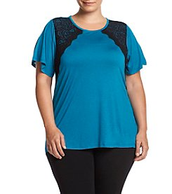 MICHAEL Michael Kors® Plus Size Lace Trim Top