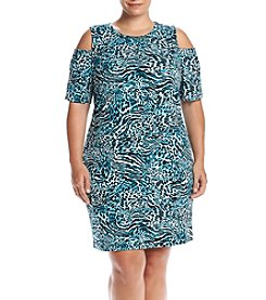 MICHAEL Michael Kors® Plus Size Big Cat Cold Shoulder Dress