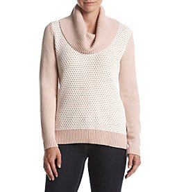 Calvin Klein Honeycomb Cowl Neck Sweater