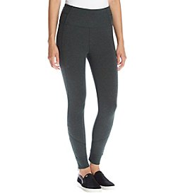 Calvin Klein Performance High Waist Zipper Cuff Ankle Leggings