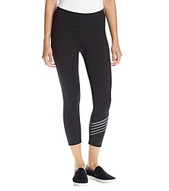 Calvin Klein Performance Groove Stripe Logo Crop Leggings