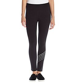 Calvin Klein Performance Stripe Wrap Around Logo Leggings