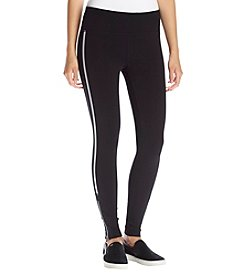Calvin Klein Performance Reflective Stripe Zipper Leggings