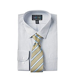 Alexander Julian Men's Regular Fit Dress Shirt & Tie Set