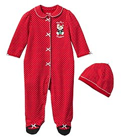 Little Me® Baby Girls' One Piece Holiday Bear Footies