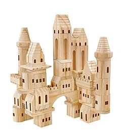 FAO Schwarz 75 Piece Solid Wood Castle Blocks