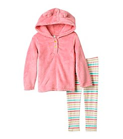 Carter's Girls' 2T-4T 2 Piece Faux Sherpa Hoodie And Leggings Set