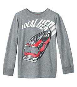 Carter's® Boys' 4-8 Long Sleeve Firetruck Hero Tee
