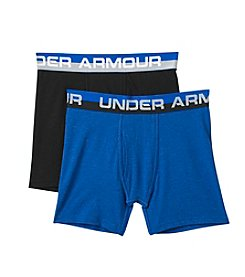 Under Armour® Boys' 2 Pack Cotton Boxer Briefs