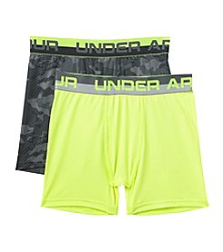 Under Armour® Boys' 8-20 2 Pack Camo Boxer Briefs
